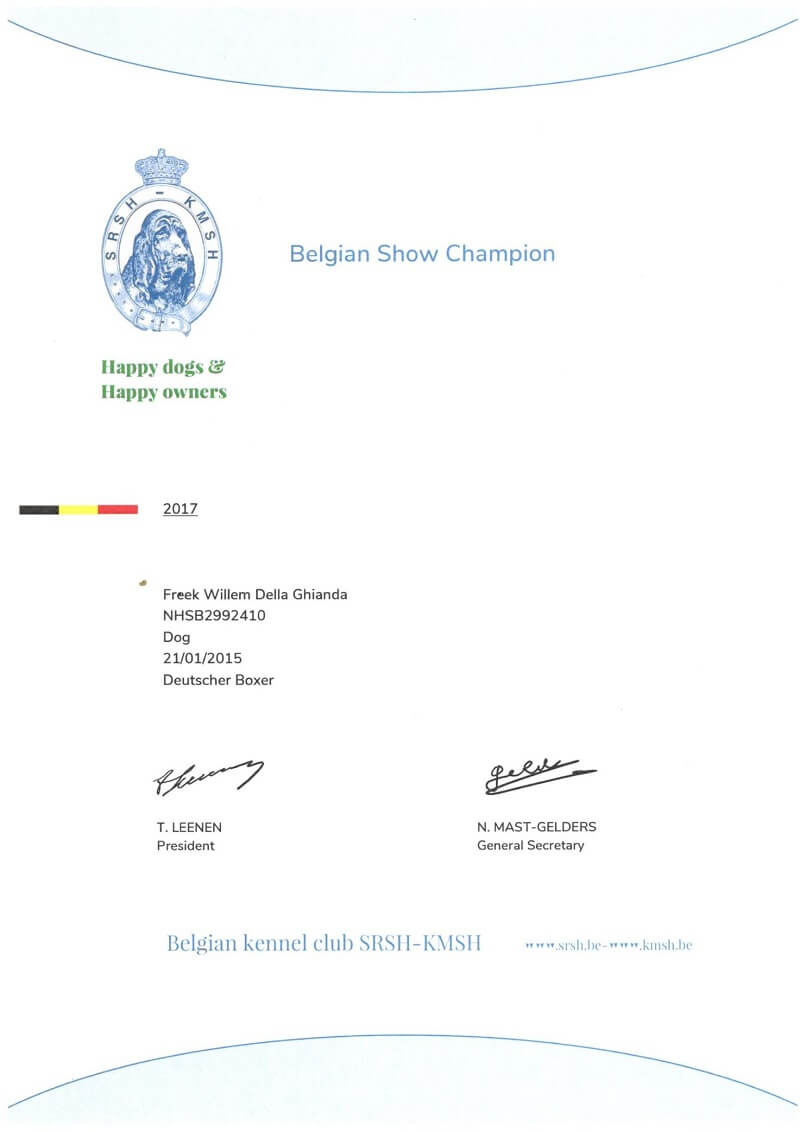 Fre Belgian Show Champion 2017