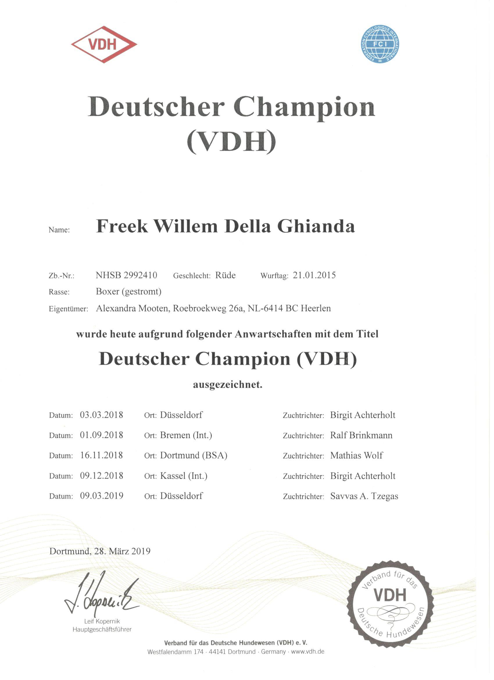Deutscher Champion (VDH)