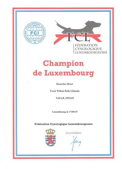 Champion de Luxembourg Freek Willem della Ghianda